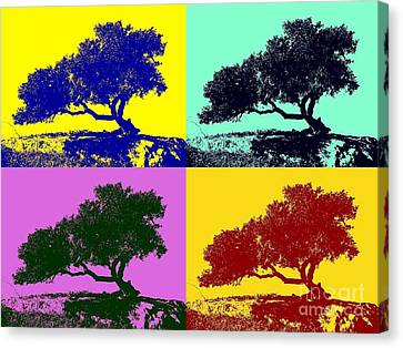 Tree Of Life X 4 Canvas Print by Tap On Photo