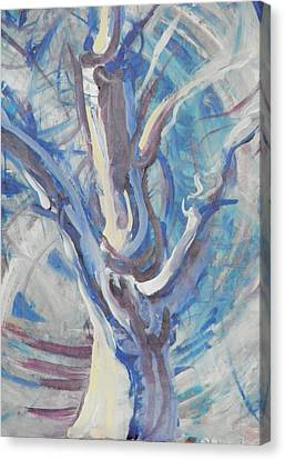 Canvas Print featuring the painting Tree Of Light by John Fish