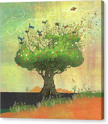 Tree Of Seasons Canvas Print by Dennis Wunsch