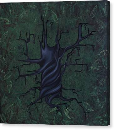 Tree Of Secrets Canvas Print by Kelly Jade King