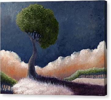 Tree Over The Big Black Canvas Print by Ethan Harris