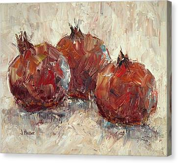 Three Pomegranates Canvas Print