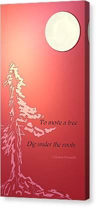 Tree Proverb Canvas Print