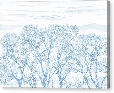 Canvas Print featuring the photograph Tree Silhouette Blue by Jennie Marie Schell