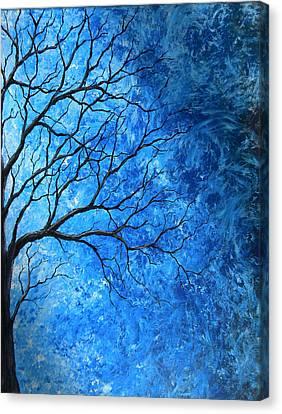 Tree Swirls Canvas Print by Sabrina Zbasnik