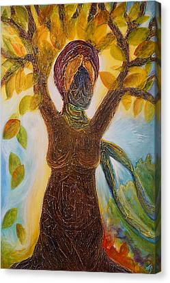 Tree Woman Canvas Print by Theresa Marie Johnson