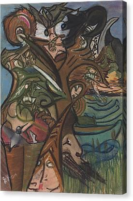 Treed In Skiatook Canvas Print by Stu Hanson