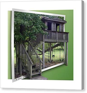 Treehouse Playground Canvas Print by Brian Wallace