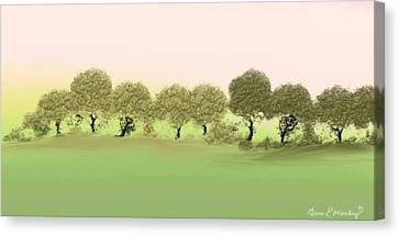 Treeline Canvas Print by Gina Lee Manley