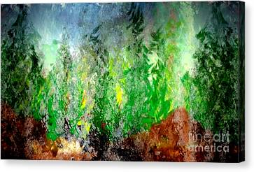 Canvas Print featuring the painting Trees 4 by John Krakora