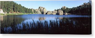 Land Feature Canvas Print - Trees Around The Lake, Sylvan Lake by Panoramic Images