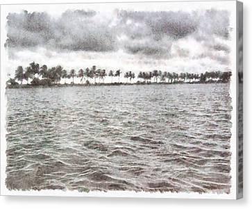Greenery Canvas Print - Trees At End Of Lake by Ashish Agarwal