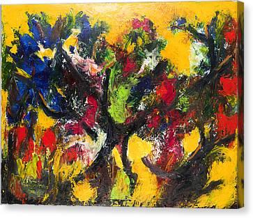 Trees At Sunset Canvas Print by Ali Hammoud