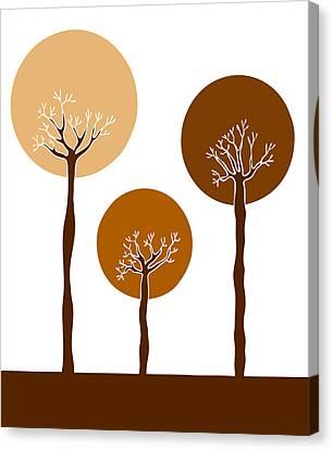 Trees Canvas Print by Frank Tschakert