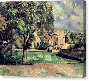South Of France Canvas Print - Trees In A Park by Paul Cezanne