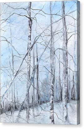 Trees In Winter Snow Canvas Print by Robin Miller-Bookhout