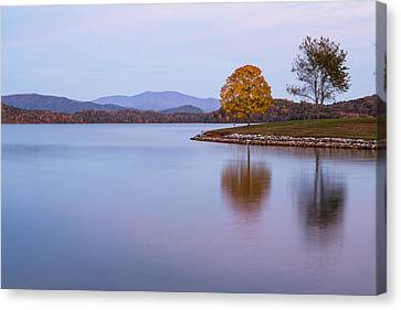 Smoky Mountains Canvas Print - Trees On Tellico Lake In Loudon Tennessee by Carol Mellema