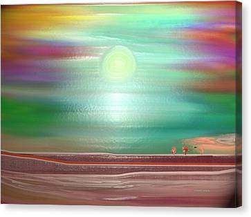 Nature Scene Canvas Print - Trees On The Horizon by Lenore Senior