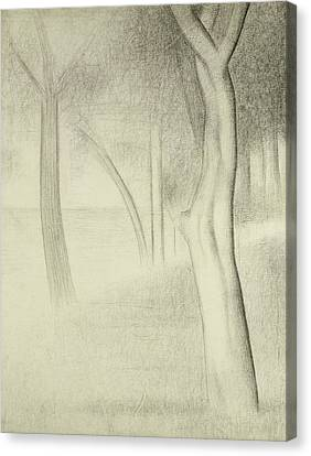Trees  Study For La Grande Jatte Canvas Print