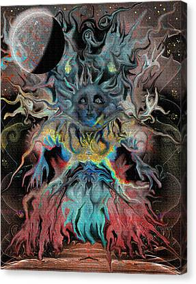 Treewoman Awakens Canvas Print by Mimulux patricia no No