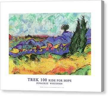 Trek 100 Poster Canvas Print by Mykul Anjelo