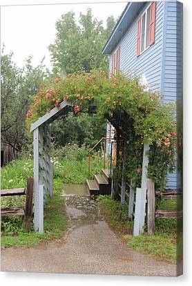 Canvas Print featuring the photograph Trellis by Beth Akerman