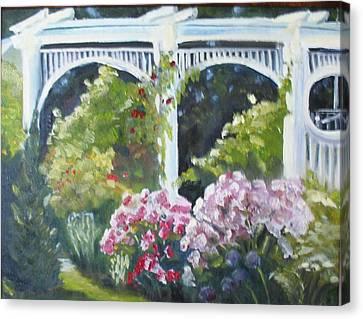 Trellis Canvas Print by Wendie Thompson