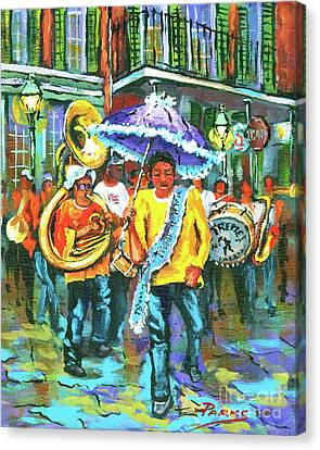 Treme Brass Band Canvas Print by Dianne Parks
