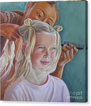 Trensitas   Little Braids Canvas Print by Judith Zur