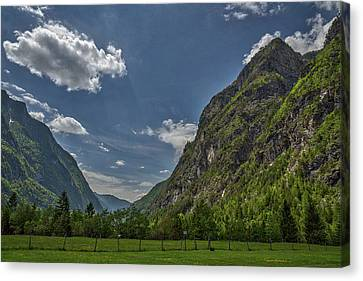 Canvas Print featuring the photograph Trenta Valley - Slovenia by Stuart Litoff