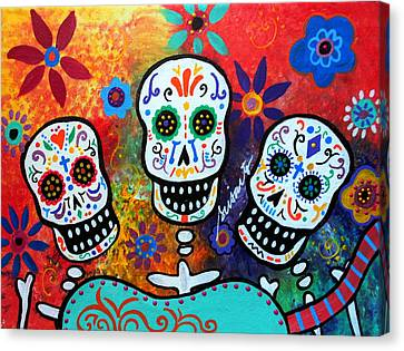 Tres Amigos Guitar Canvas Print