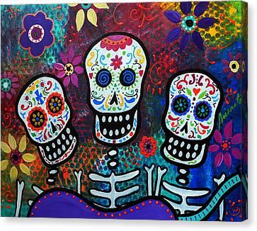 Tres Amigos Canvas Print by Pristine Cartera Turkus