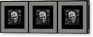 Shower Head Canvas Print - Tres Locos by Darin Baker
