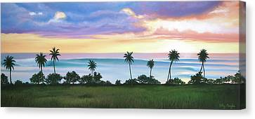 Tres Palmas Canvas Print by Kelly Meagher
