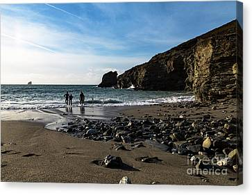 Canvas Print featuring the photograph Trevellas Cove by Brian Roscorla
