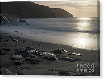 Canvas Print featuring the photograph Photographs Of Cornwall Trevellas Cove Cornwall by Brian Roscorla