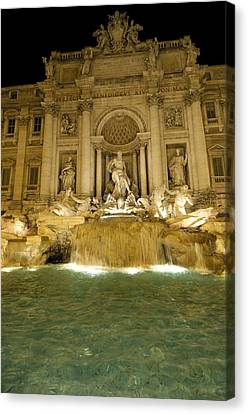 Trevi Fountain. Rome Canvas Print
