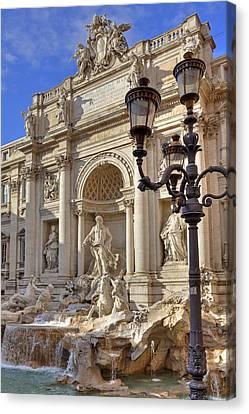 Trevi Fountain Rome Canvas Print