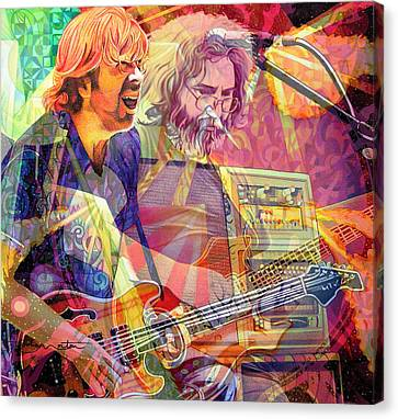 Trey Channeling Cosmic Jerry Canvas Print by Joshua Morton