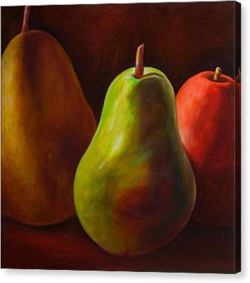 Tri Pear Canvas Print