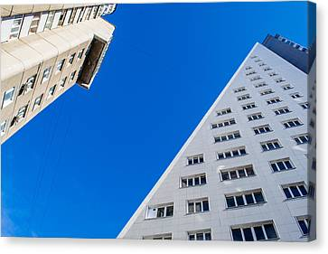 Canvas Print featuring the photograph Triangle Modern Building by John Williams