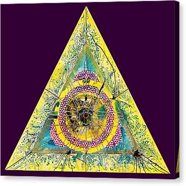 Triangle Triptych 2 Canvas Print by Tom Hefko
