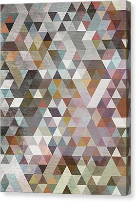 Triangles Pastel Canvas Print