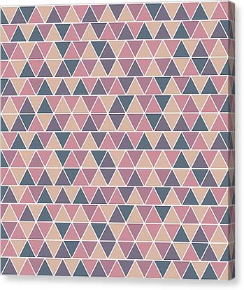 Warm Canvas Print - Triangular Geometric Pattern - Warm Colors 01 by Studio Grafiikka