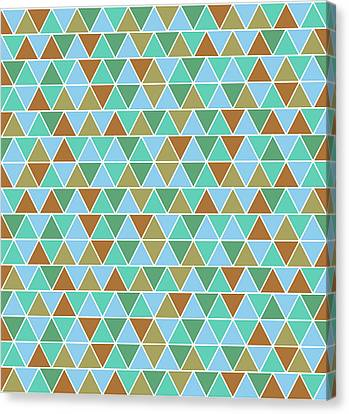 Warm Canvas Print - Triangular Geometric Pattern - Warm Colors 02 by Studio Grafiikka