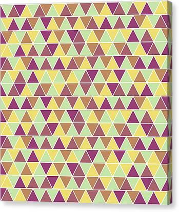 Triangular Geometric Pattern - Warm Colors 05 Canvas Print
