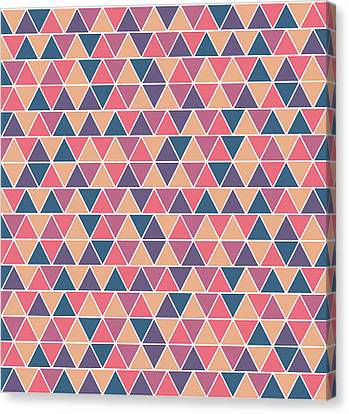 Warm Canvas Print - Triangular Geometric Pattern - Warm Colors 07 by Studio Grafiikka