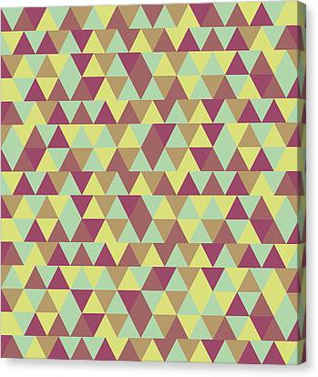Warm Canvas Print - Triangular Geometric Pattern - Warm Colors 08 by Studio Grafiikka