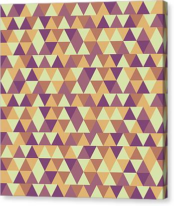 Warm Canvas Print - Triangular Geometric Pattern - Warm Colors 10 by Studio Grafiikka