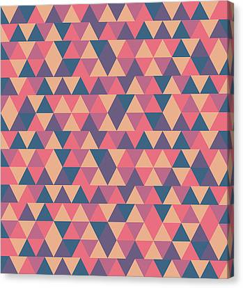 Warm Canvas Print - Triangular Geometric Pattern - Warm Colors 11 by Studio Grafiikka
